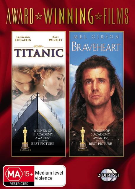 Titanic / Braveheart (Award Winning Films) (2 Disc Set) on DVD