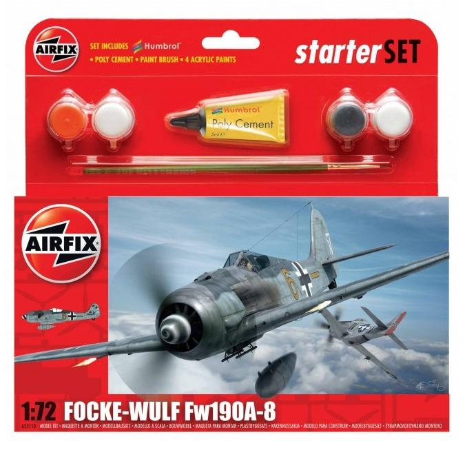 Airfix Focke Wulf Fw190A-8 Starter Set 1:72 Model Kit image
