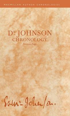 A Dr Johnson Chronology by Norman Page
