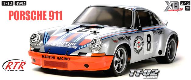 Tamiya 1:10 RTR Porsche Carrera RSR - TT02 Car