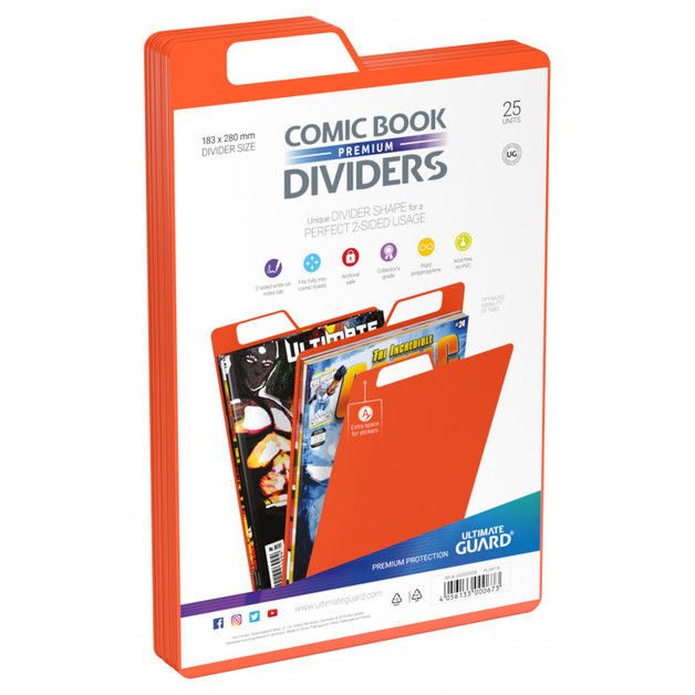 Ultimate Guard: Premium Comic Dividers - Orange (25-Pack)