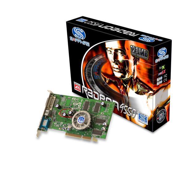 Sapphire Radeon Video Card 9550 128MB AGP image
