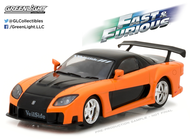 1/43: 1997 Mazda RX-7 - Fast and the Furious- Tokyo Drift - Diecast Model