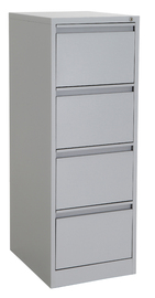 Proceed Lockable Filing Cabinet 4 Drawer - Grey