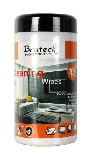 BRATECK 100pc LCD Cleaning Wipes