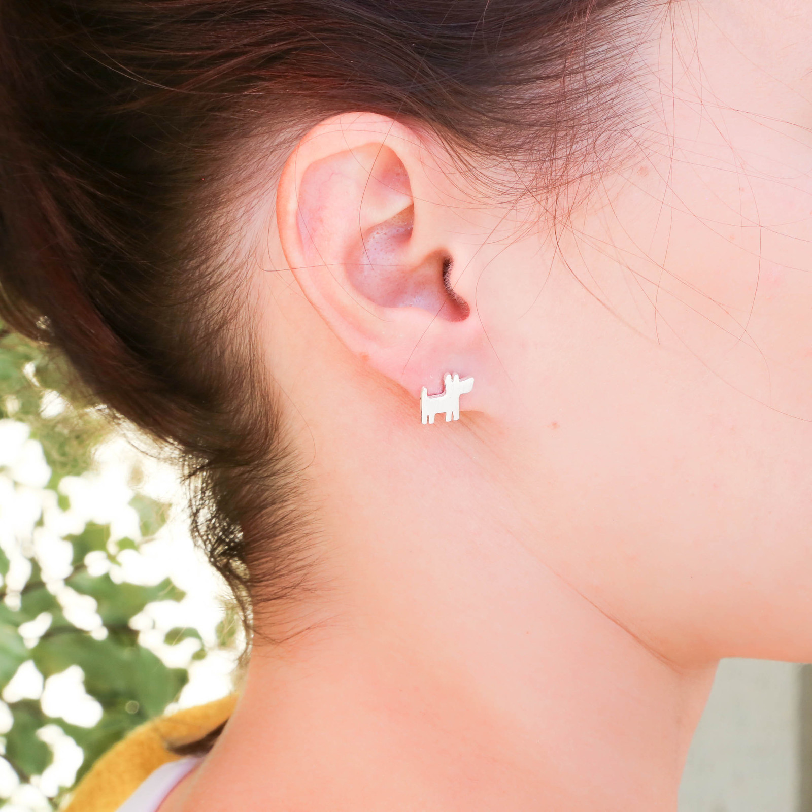 Short Story: Funky Play Earrings - Silver Dog image