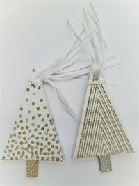 Christmas Tree Gift Tags with Glitter (10 Pack) image