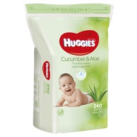 Huggies Cucumber & Aloe Wipes - Jumbo Pack (240) image