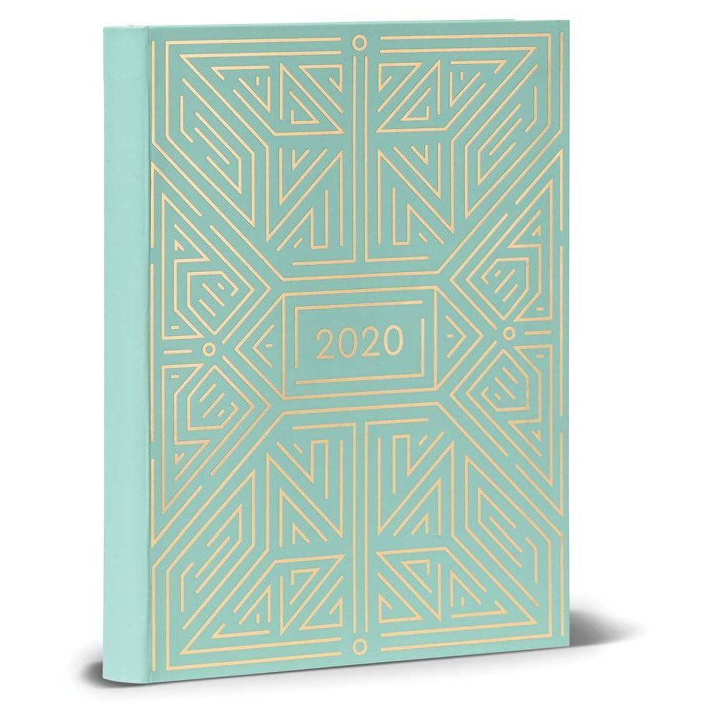 2020 High Note Mint Geometric in Gold 18-Month Weekly Planner image
