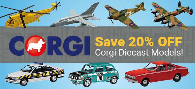 Save 20% off Corgi Diecast!