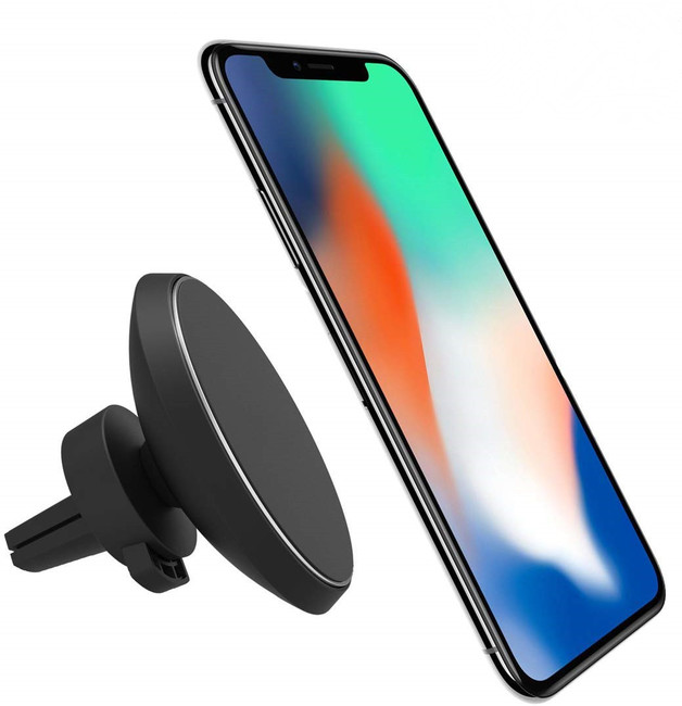 Magnetic Wireless Car Charger for iPhone and Samsung