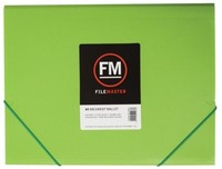 FM A4 Vivid Document Wallet - Lime Green
