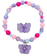 Great Pretenders - Sparkle Butterfly Bracelet & Ring Set