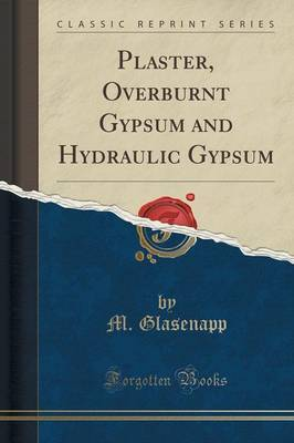 Plaster, Overburnt Gypsum and Hydraulic Gypsum (Classic Reprint) by M Glasenapp