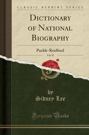 Dictionary of National Biography, Vol. 47 by Sidney Lee image