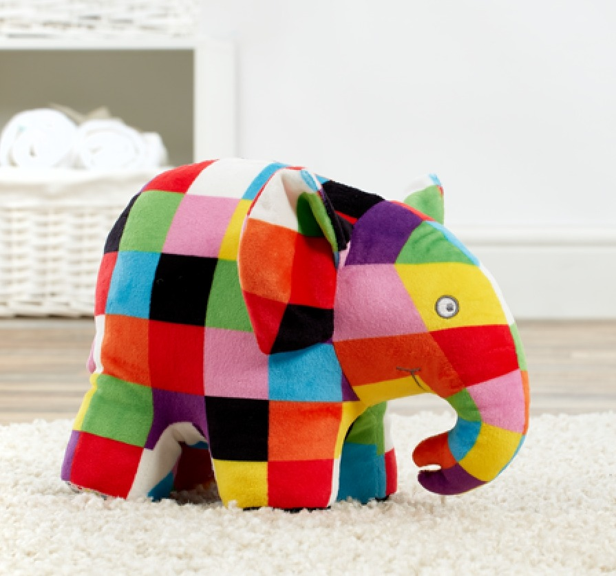 Elmer The Patchwork Elephant Plush image
