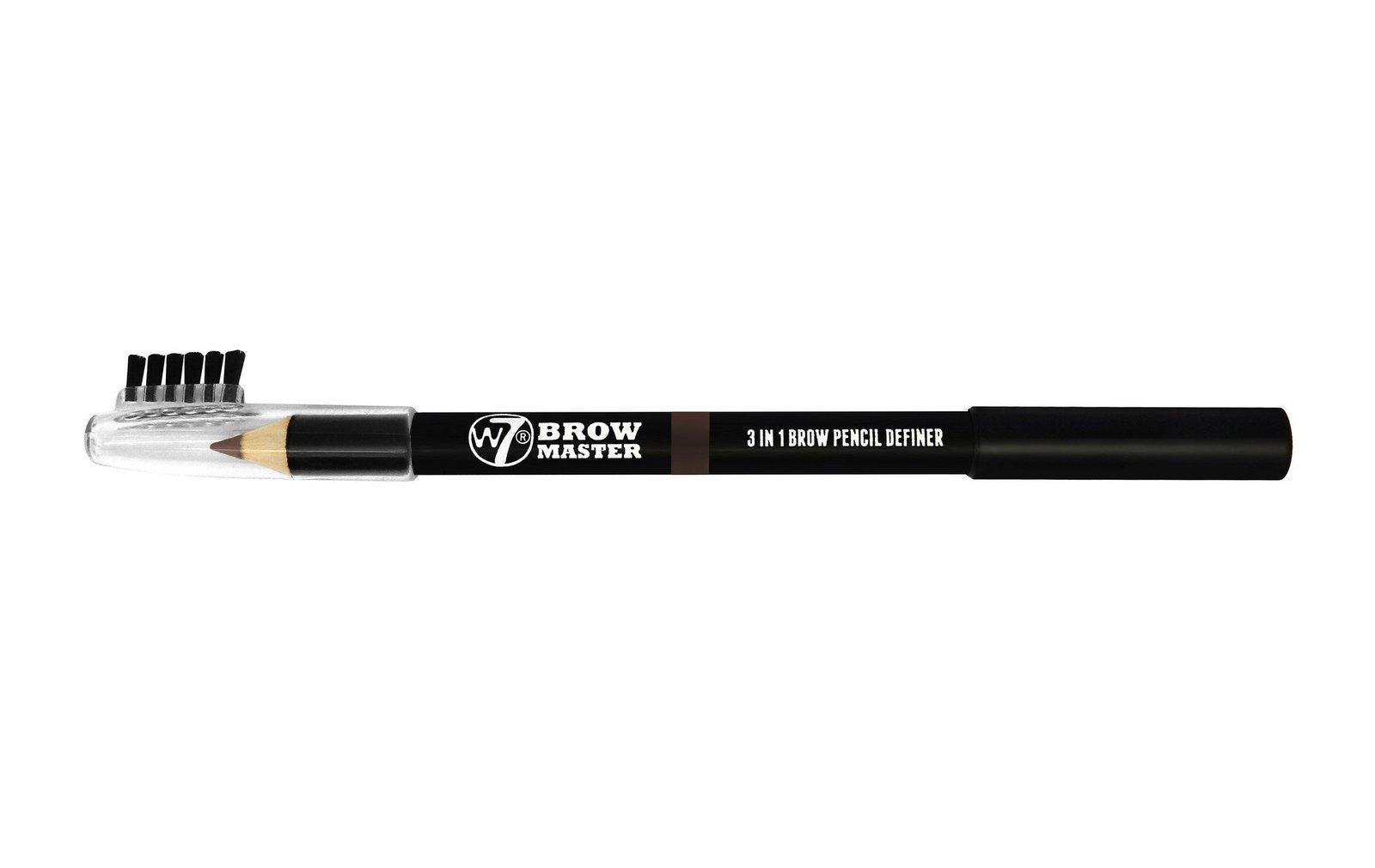 W7 Brow Master 3 in 1 Brow Pencil Definer (Dark Brown) image