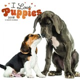 I Love Puppies 2018 Square Wall Calendar by Inc Browntrout Publishers