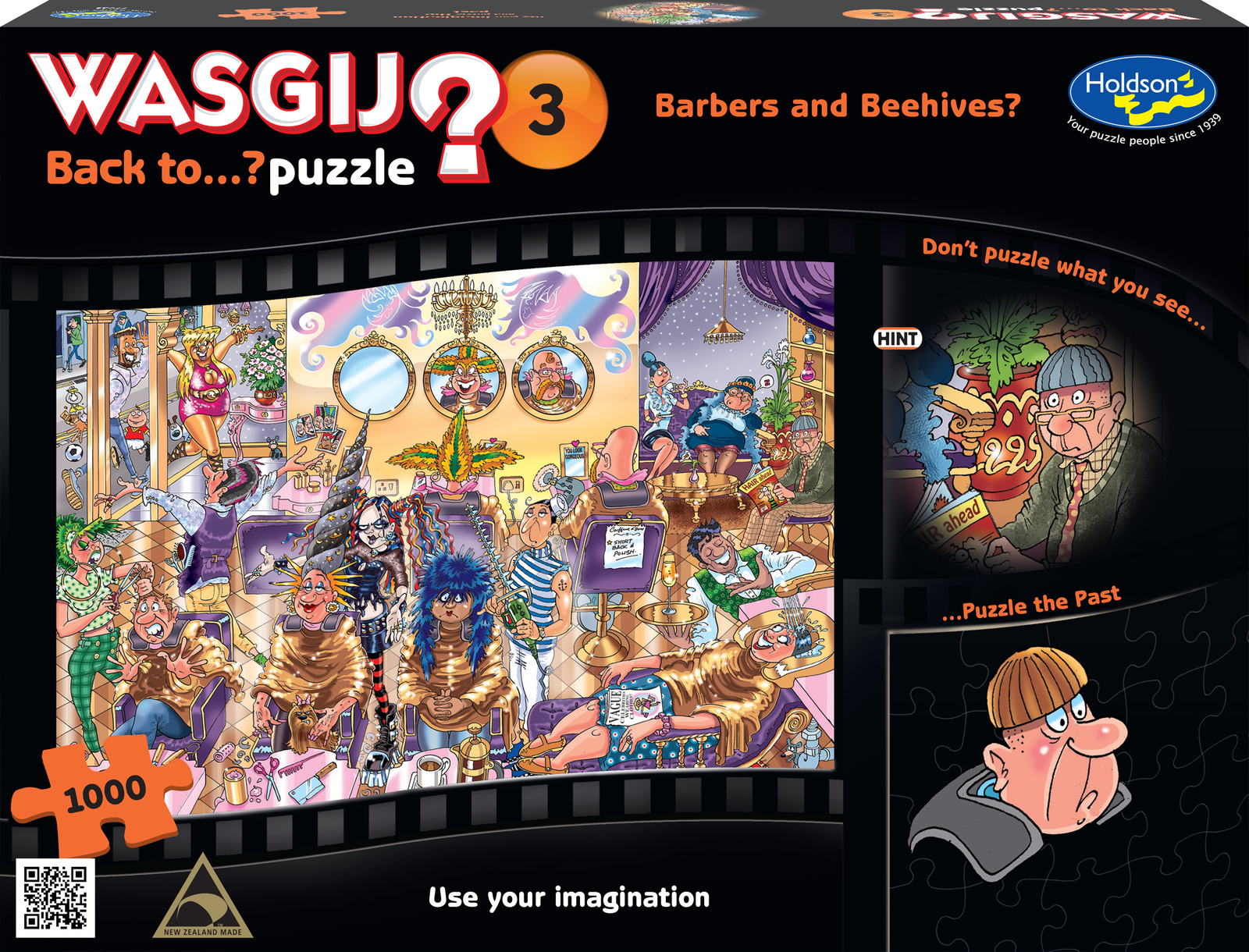 Wasgij: 1000 Piece Puzzle - Back To... (Barbers & Beehives) image