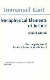 Metaphysical elements of Justice by Immanuel Kant image