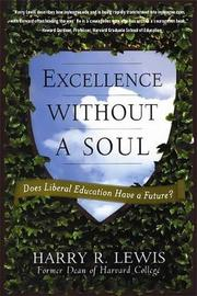 Excellence Without a Soul by Harry Lewis
