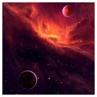 Red Space 2 Terrain Gaming Mat (3x3)
