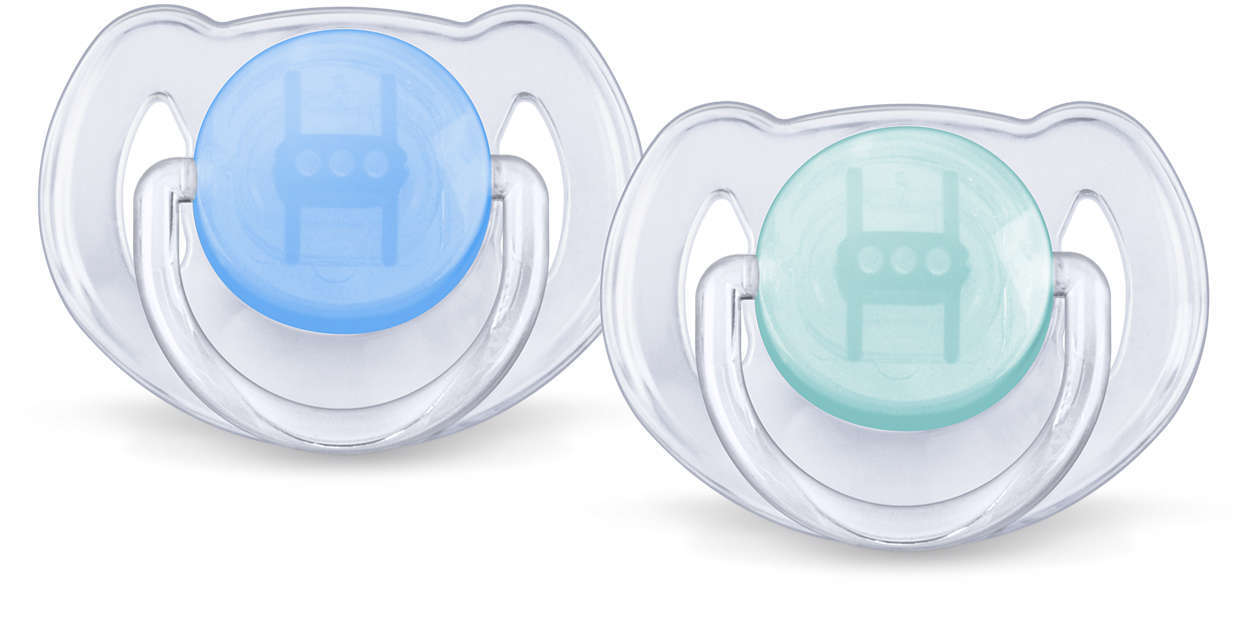 Philips Avent 6m+ Translucent Soother (2 Pack) image