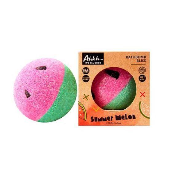 Ahhh Soaps: Bath Bomb - Summer Melon (180g)
