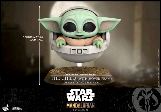 Star Wars: The Mandalorian - The Child (with Hover Pram) - Cosbaby Figure