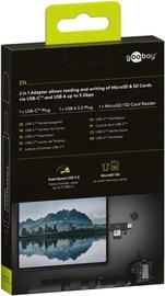 Goobay: USB-C 2-in-1 SD Card Reader - Black