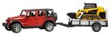 Bruder: Jeep with Trailer & CAT Loader