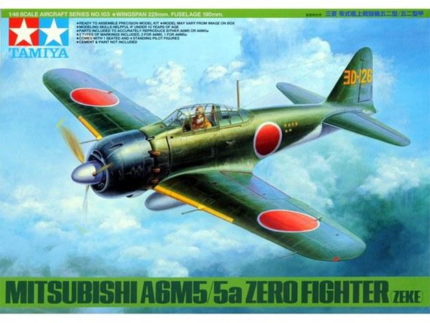 Tamiya 1/48 Mitsubishi A6M5/5a Zero - Fighter (Zeke) - Model Kit