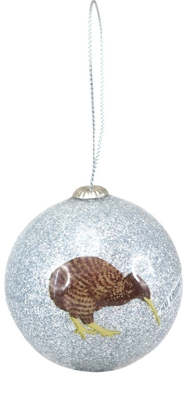 Antics: Christmas Decoration - Silver Kiwi