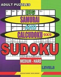 Adult puzzles. Big Samurai and Calcudoku 9x9 Sudoku. Medium - hard levels. by Basford Holmes image