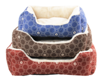 """Pawise: Square Dog Bed - Blue/25"""""""