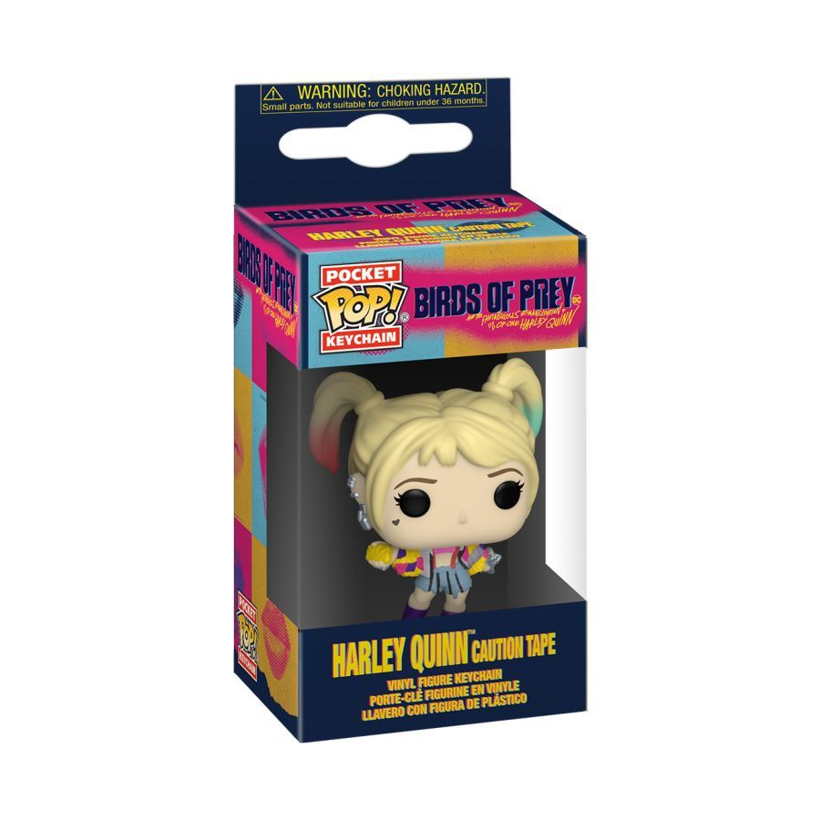 Harley Quinn: Caution Tape - Pocket Pop! Keychain image