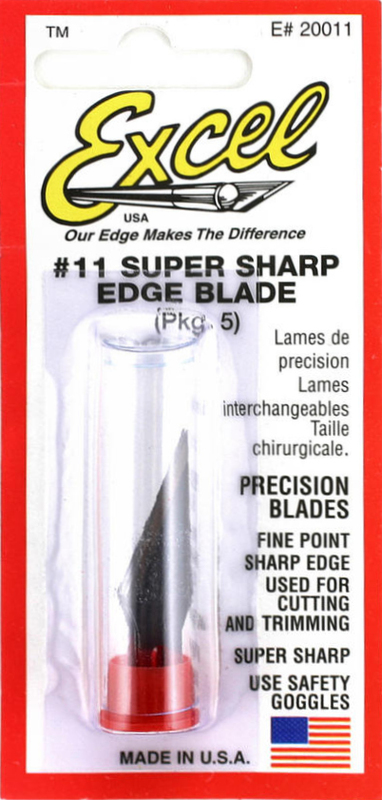 Excel #1 Carbon Steel Double Honed Blade (5pcs)