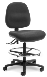 Alpha Mid Back 2 Lever Technical Chair - Black