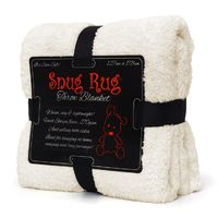 Snug-Rug Sherpa Throw Blanket - Cream