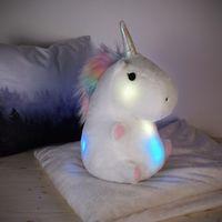 Smoko Chubby Glowing Unicorn Pillow