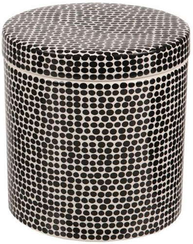 Ceramic Bathroom Canister (Black Spot) image