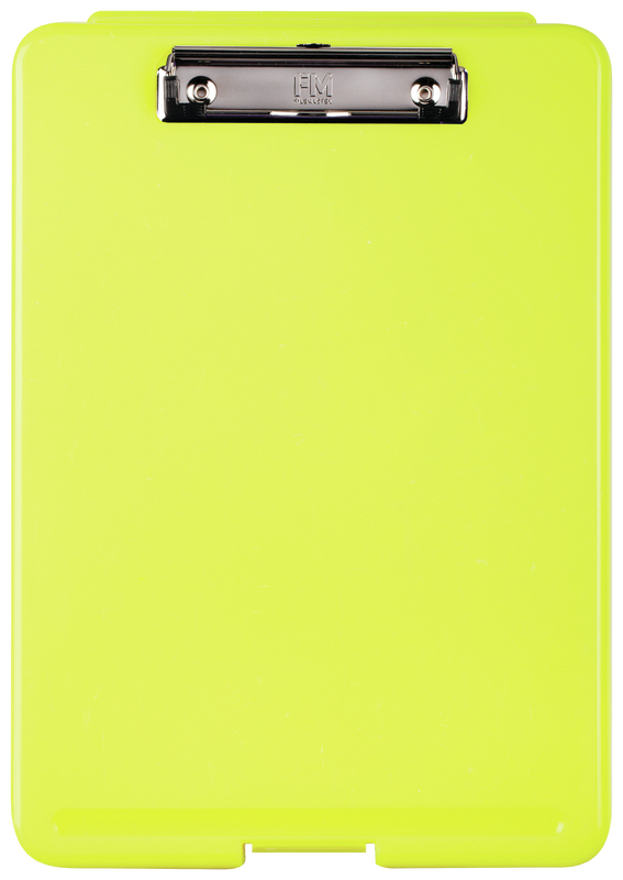 FM: Document Clipboard Box - Safety Yellow Flouro