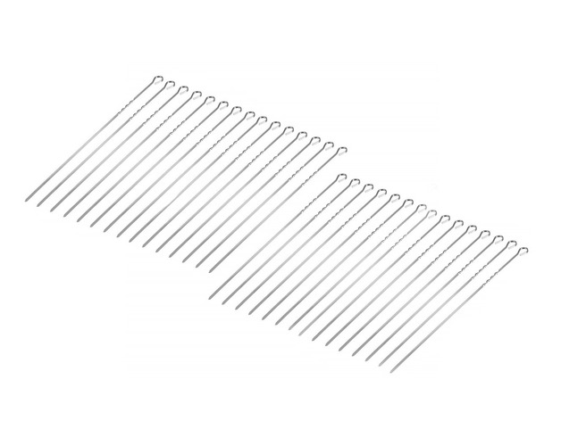 Stainless Steel Barbecue Skewers 38cm   30Pcs
