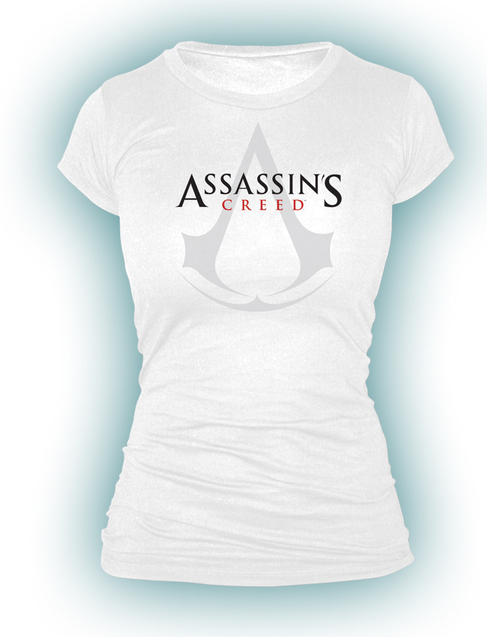 Assassin's Creed - White Logo Female Babydoll T-Shirt (Medium) image