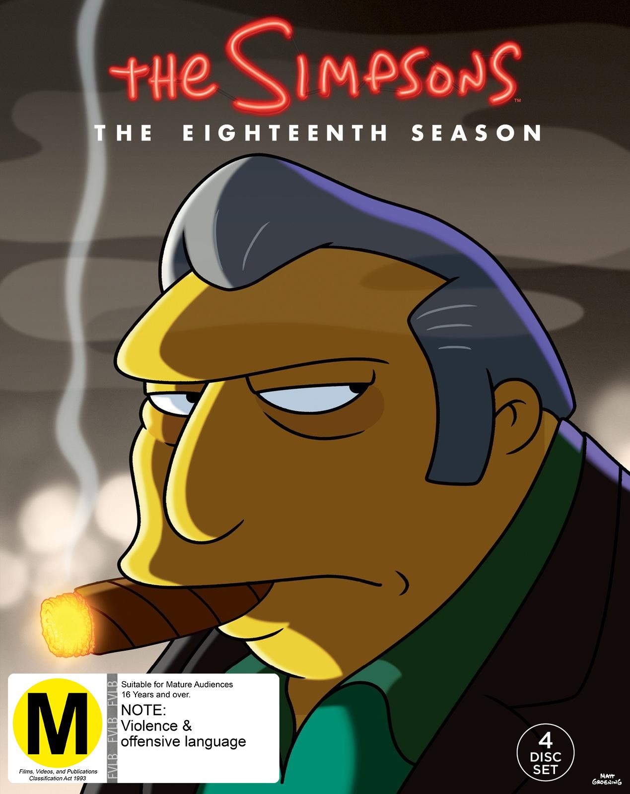 Simpsons - Season 18 (4 Disc Set) on DVD image