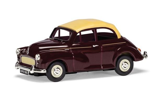 Corgi 1/43 Minor Convertible: Maroon Diecast Model