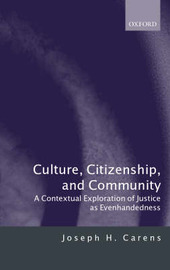 Culture, Citizenship, and Community by Joseph H Carens image