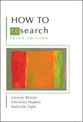 How to Research by Lorraine Blaxter