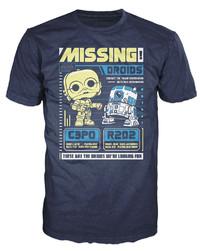 Star Wars - C-3PO & R2D2 Poster Pop! T-Shirt (S)