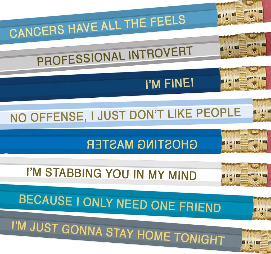 Whiskey River Co: Astrology Pencil - Cancer (8 Pack) image